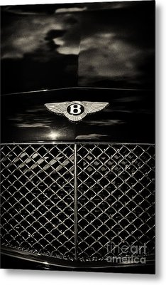 Bentley Continental Gt Sepia Metal Print by Tim Gainey