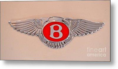 Bentley Emblem Metal Print