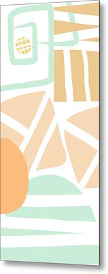 Bento 3- Abstract Shapes Art Metal Print