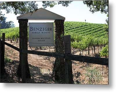 Benziger Winery In The Sonoma California Wine Country 5d24593 Metal Print by Wingsdomain Art and Photography