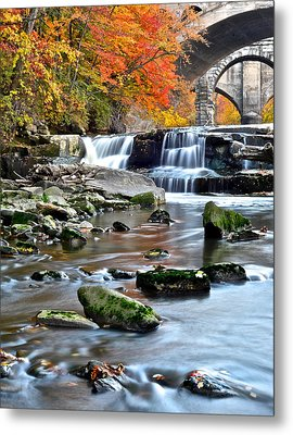 Berea Falls Ohio Metal Print by Frozen in Time Fine Art Photography