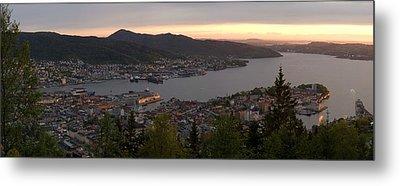 Bergen Sunset Panorama Metal Print by Benjamin Reed