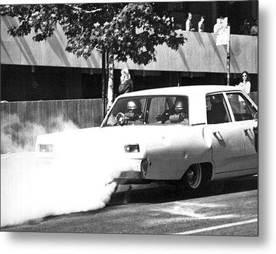 Berkeley Police Pepper Gas Metal Print by Underwood Archives Thornton
