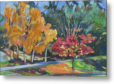 Berkshire Fall Metal Print by Linda Novick