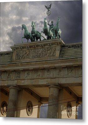 Berlin - Brandenburg Gate Metal Print by Gregory Dyer