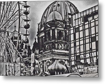 Metal Print featuring the photograph Berlin Christmas Market by Cassandra Buckley