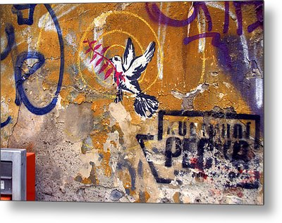 Berlin Graffiti Metal Print