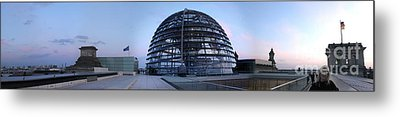 Berlin - Reichstag Panorama Metal Print by Gregory Dyer