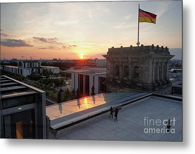 Berlin - Reichstag Roof - No.07 Metal Print by Gregory Dyer