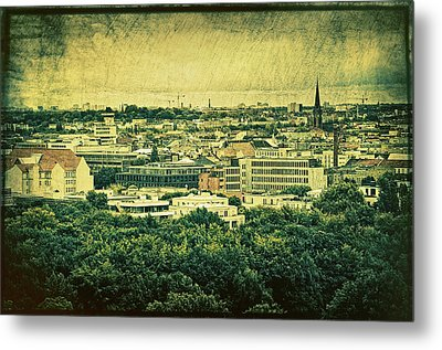 Berlin - Stylized To Old Metal Print by Gynt