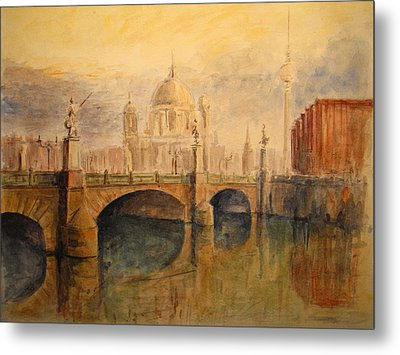 Berliner Dom Metal Print by Juan  Bosco