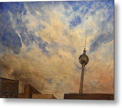 Berliner Sky Metal Print by Juan  Bosco