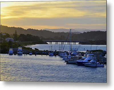 Bermagui River Sunset Metal Print