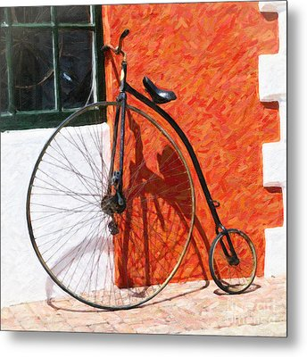 Metal Print featuring the photograph Bermuda Antique Bicycle by Verena Matthew