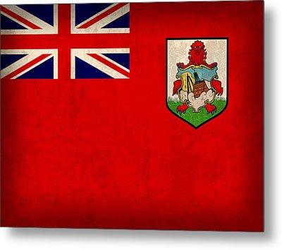 Bermuda Flag Vintage Distressed Finish Metal Print by Design Turnpike