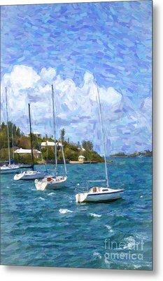 Metal Print featuring the photograph Bermuda Sailboats by Verena Matthew