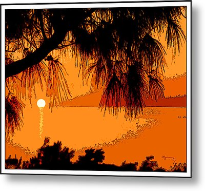 Metal Print featuring the photograph Bermuda Sunset by Mariarosa Rockefeller