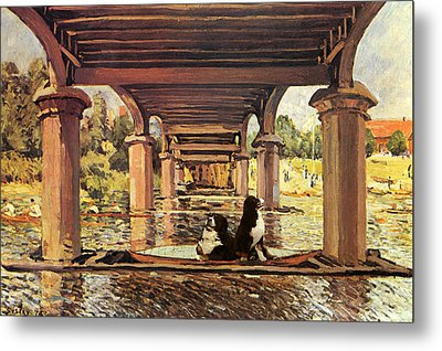 Berners On The Water Metal Print