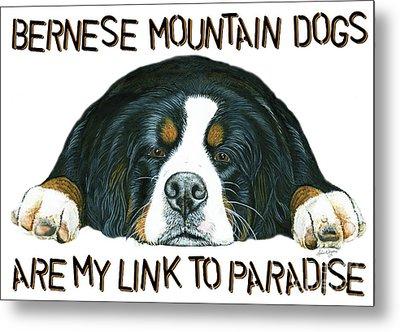Bernese Mountain Dog Paradise Metal Print by Liane Weyers