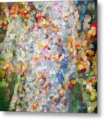 Berries Around The Tree - Abstract Art Metal Print by Kerri Farley