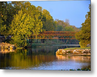 Metal Print featuring the photograph Berry Creek Bridge by John Johnson