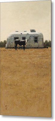 Bessie Wants To Travel Metal Print by Ron Crabb