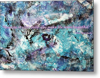Besso Monotype Smile Metal Print by Marlene Rose Besso