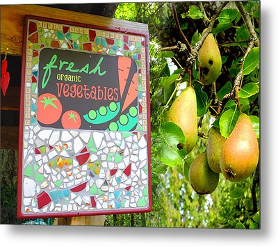 Best Farmstand Metal Print by Lyn  Perry