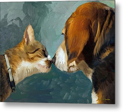 Best Friends Metal Print by Angela A Stanton