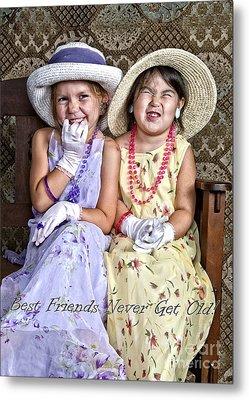Best Friends Card Metal Print