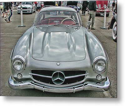 Best In Show Mercedes Benz 300sl Gullwing Metal Print by Samuel Sheats