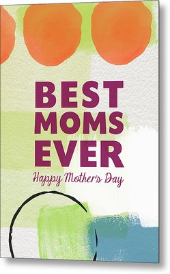 Best Moms Card- Two Moms Greeting Card Metal Print