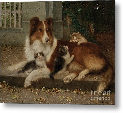 Best Of Friends Metal Print by Wilhelm Schwar
