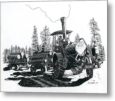 Best Steam Traction Engine Metal Print