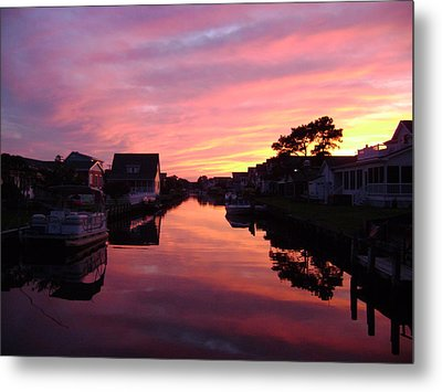 Bethany Beach Sunset Metal Print