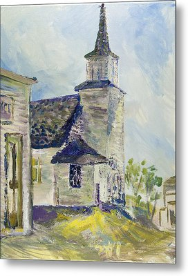 Bethel Church At Buckstop Junction Metal Print by Helen Campbell