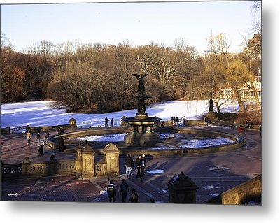 Bethesda Fountain 2013 - Central Park - Nyc Metal Print by Madeline Ellis