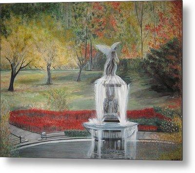 Bethesda Fountain  Central Park Metal Print by Rick Todaro