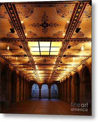 Bethesda Terrace Lower Passage Metal Print by Lee Dos Santos