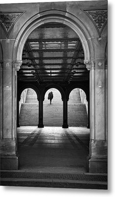 Bethesda Underpass At Central Park In New York City Metal Print by Ilker Goksen