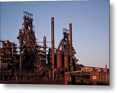 Bethlehem Steel At Sunset Metal Print