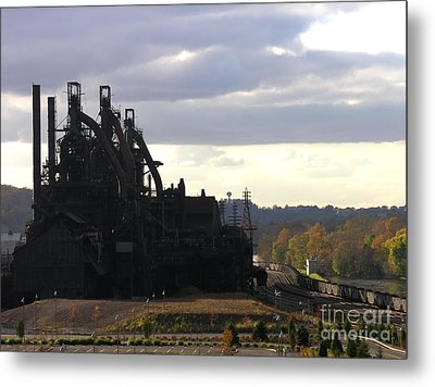 Bethlehem Steel On The Lehigh River Metal Print by Jacqueline M Lewis
