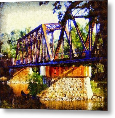 Train Trestle Bridge Metal Print by Janine Riley