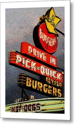 Better  Burgers Metal Print by Gail Lawnicki