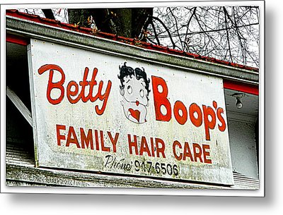 Betty Boops Family Hair Care Metal Print by Kathy Barney