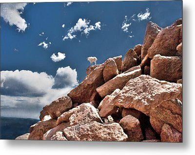 Between A Rock And A Hard Place Metal Print by Tejas Prints