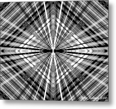 Between Black And White Metal Print by Brian Johnson
