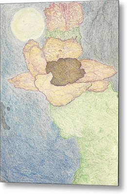 Metal Print featuring the drawing Between Dreams by Kim Pate