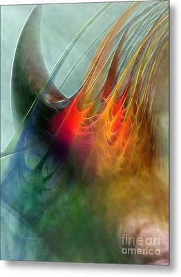 Between Heaven And Earth-abstract Metal Print by Karin Kuhlmann