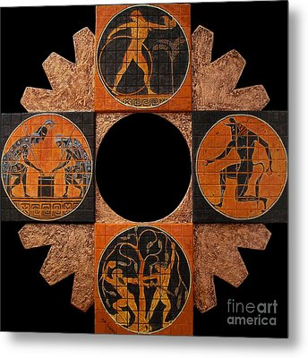 Between History And Legend Metal Print by Anna Maria Guarnieri